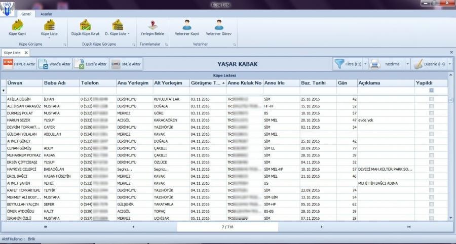 Çiftlik Yönetimi Online Sürü Yönetim Sistemi - Anasayfa